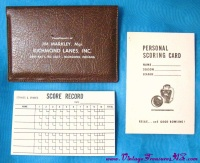"Image for Bowling Richmond Lanes, Inc. Indiana ""Compliments of Jim Markley, Manager"" Vintage xa 1940s-1960s Personal Scoring Card & Score Record Pad Business Cards-sized Case-Holder Advertising Premium Giveaway  <b><span style='color:red'>  *****FIRST CLASS SHIPPING INCLUDED – DOMESTIC ORDERS ONLY!*****  </span></b><span style='color:purple'>"