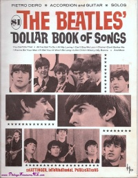 Image for Beatles' Dollar Book of Songs Vintage 1964-1965 Sheet Music Songbook <b><span style='color:red'>  *****FIRST CLASS SHIPPING INCLUDED – DOMESTIC ORDERS ONLY!*****  </span></b><span style='color:purple'>